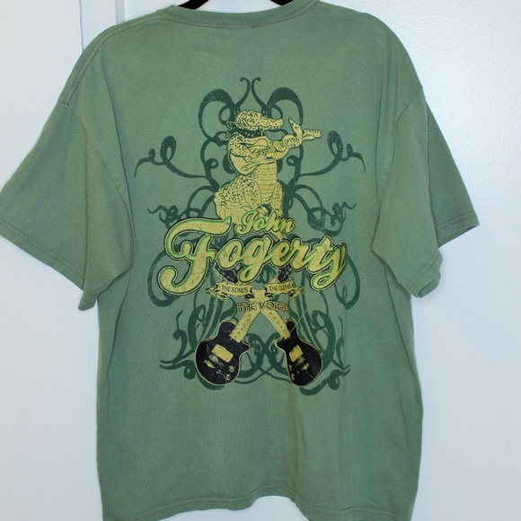 John Fogerty Graphic Concert Band Tee Tshirt XL